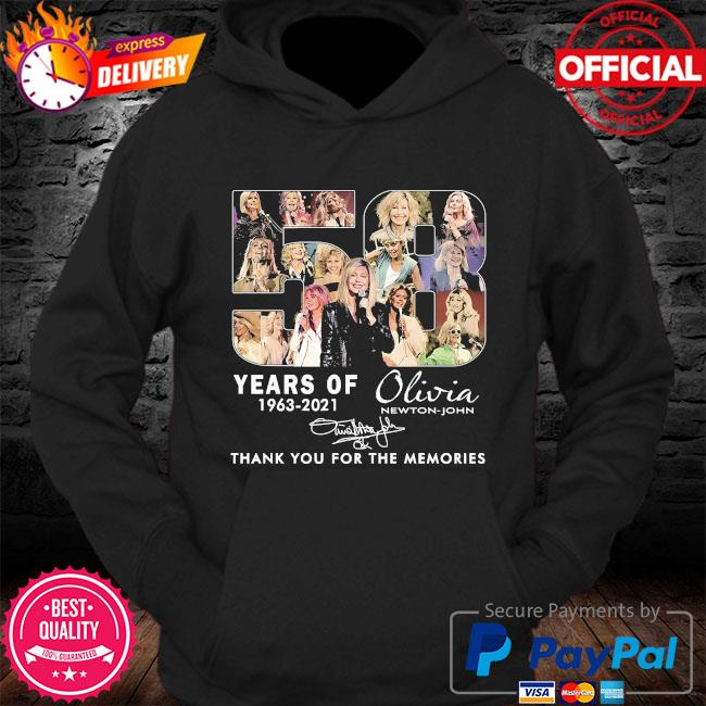 58 years Olivia thank you for the memories signature s Hoodie