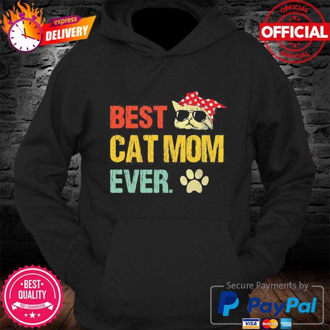 Best cat mom ever vintage s Hoodie