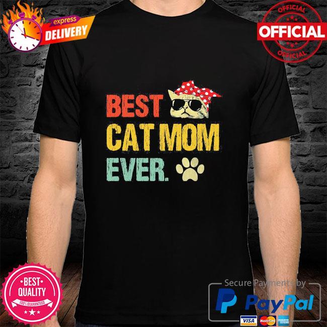 Best cat mom ever vintage shirt