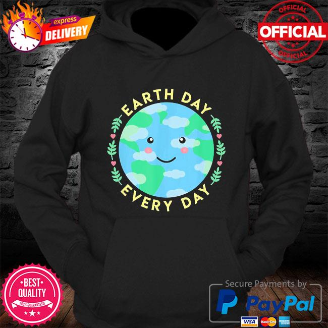 Earth day every day love the environment cute kawaii planet s Hoodie