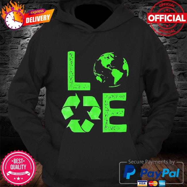 Love earth day 90s planet vintage recycling s Hoodie