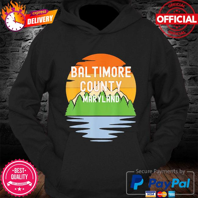 From baltimore county maryland vintage sunset s Hoodie