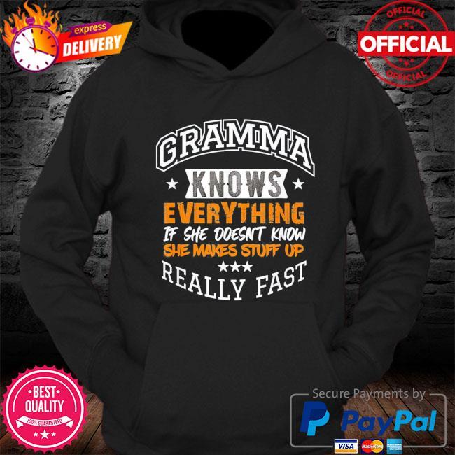 Gramma knows everything mom grandma grandkids mothers day s Hoodie