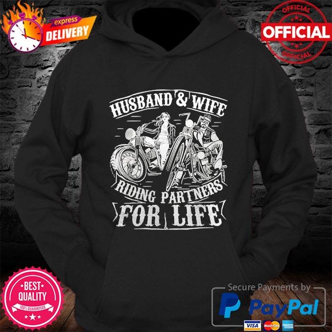 Husband wife riding partners for life matching couple biker s Hoodie
