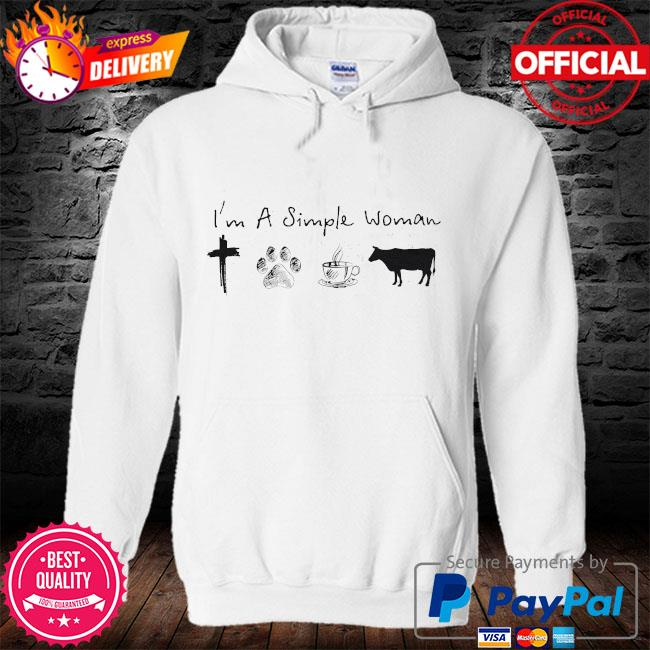 I'm a simple woman Jesus dog coffee and horse s hoodie
