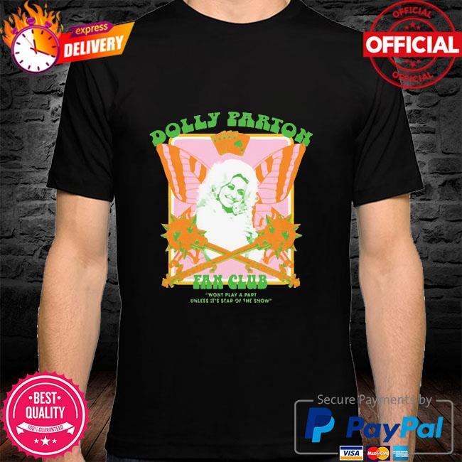 Jimmy knives yowcho merch dolly parton fan club black shirt