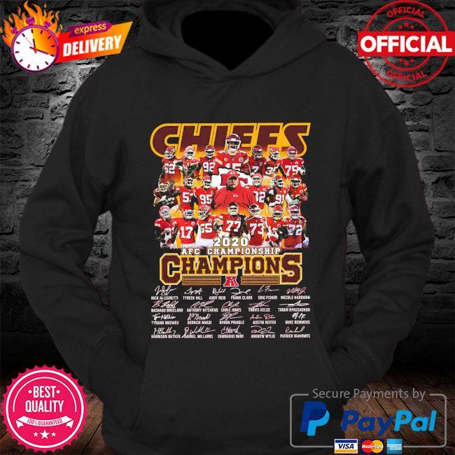Kansas City Chiefs 2020 afc championship champions signatures s Hoodie