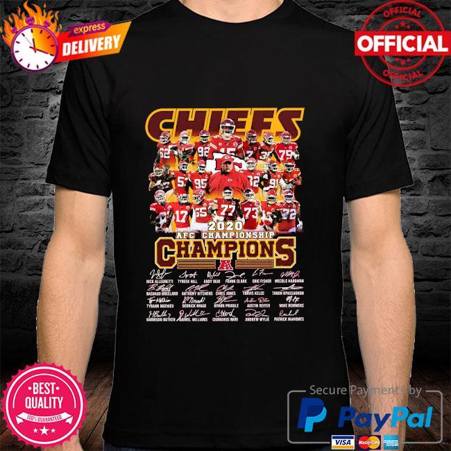Kansas City Chiefs 2020 afc championship champions signatures shirt