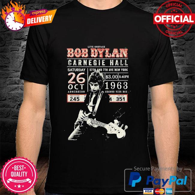 Kive onstage Bob Dylan Carnegie hall shirt