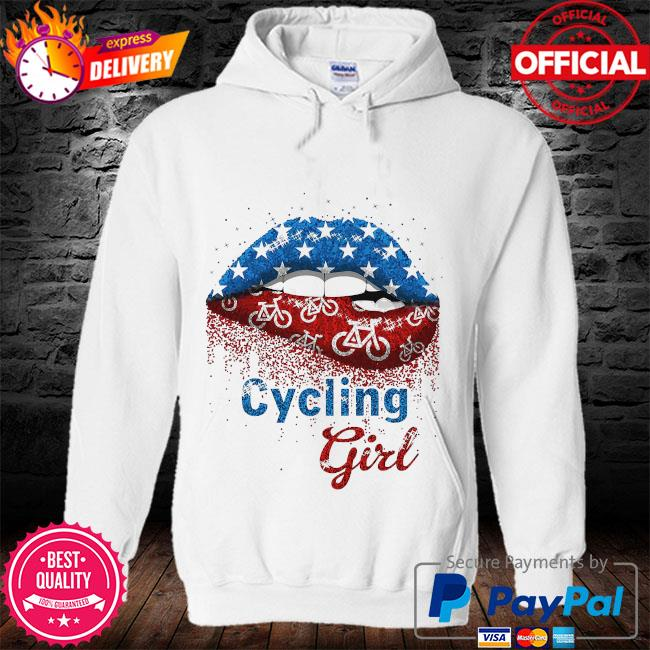 Lips Cycling Girl s hoodie