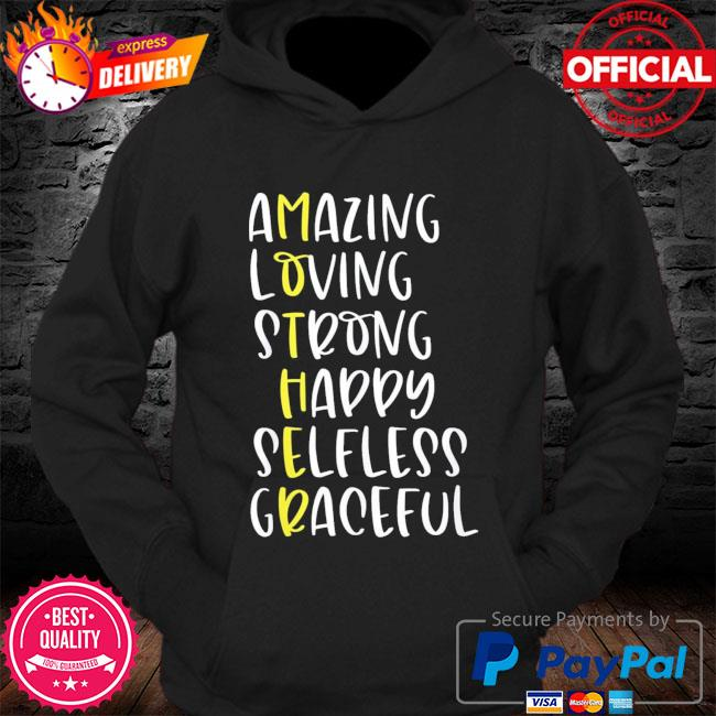 Mothers definition amazing loving strong mother's day s Hoodie