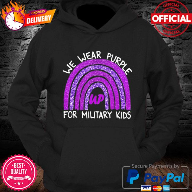 Official we wear purple up for military kids military child month s Hoodie