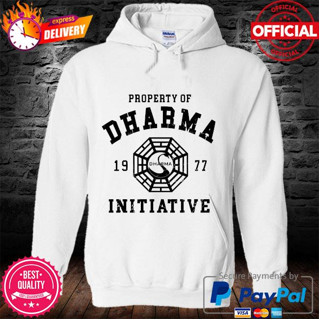 Property of dharma 1977 initiative s hoodie