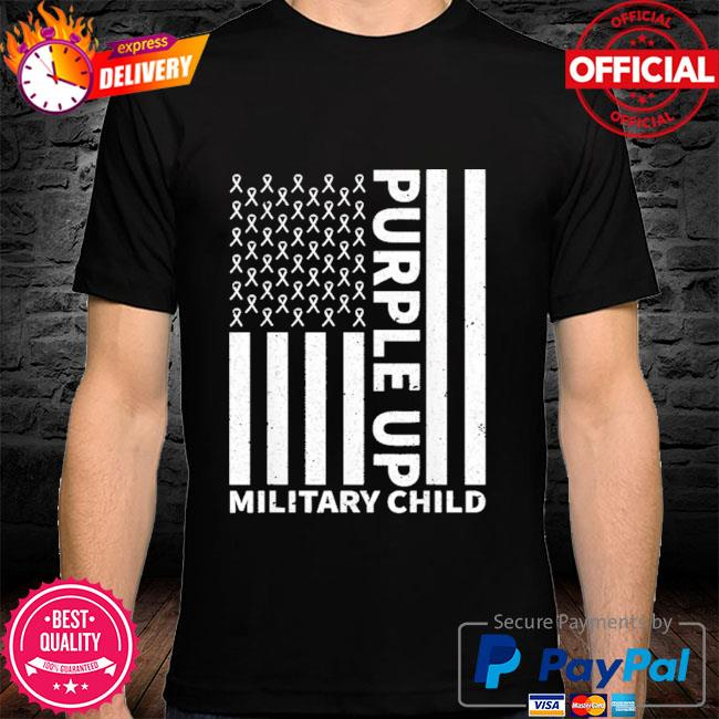 Purple up for military child military month shirt