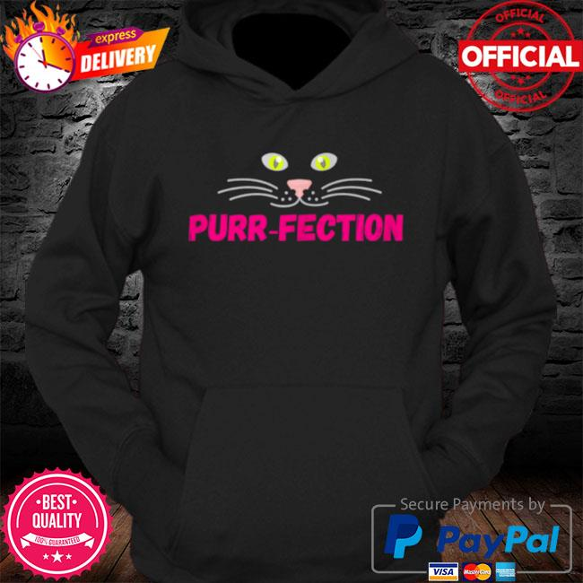 Purrfection cute cats eyes nose mouth face design s Hoodie