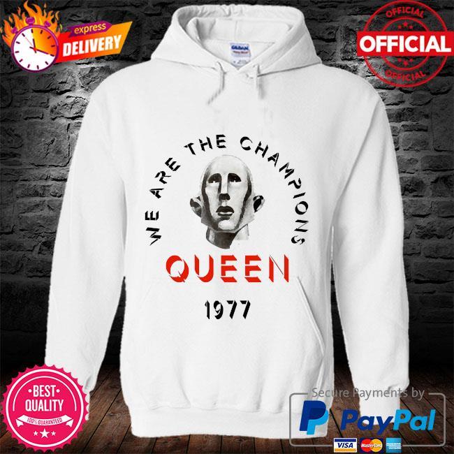 Queen we are the champions queen 1977 s hoodie