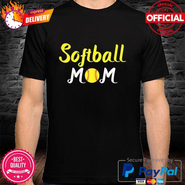 Softball momma baseball sport mothers day quote shirt