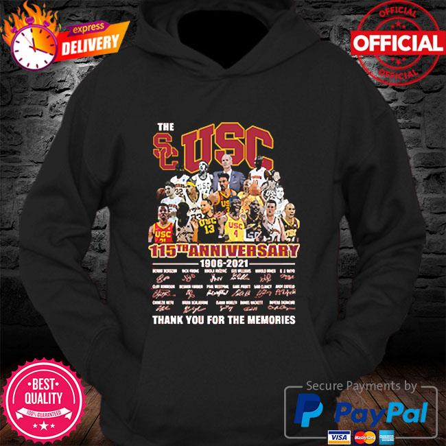 The Usc 115th anniversary thank you for the memories signatures s Hoodie