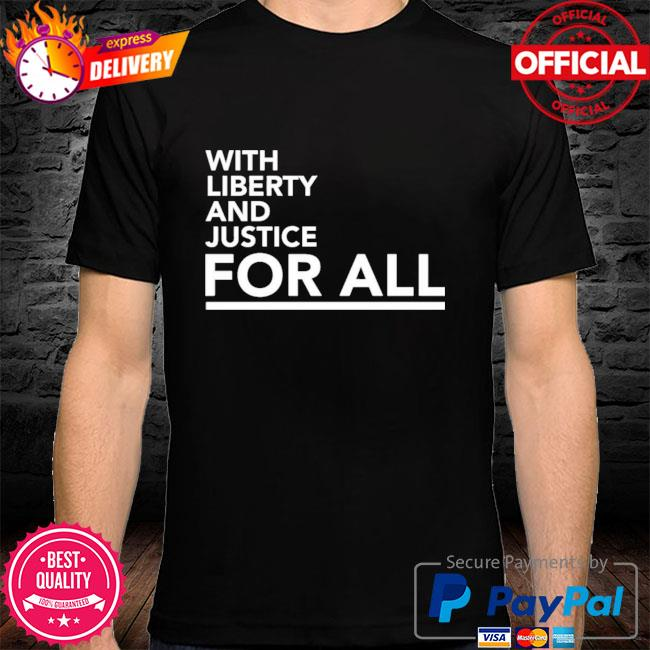 Timberwolf with liberty and justice for all shirt