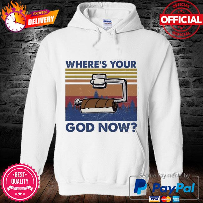 Toilet paper where's your god now vintage s hoodie